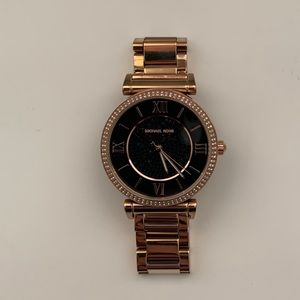 Michael Korda Rose Gold Watch